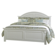 Liberty Furniture Summer House Queen Panel Bed in Oyster White 607-BRQ