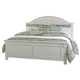 Liberty Furniture Summer House King Panel Bed in Oyster White 607-BRK