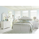 Liberty Furniture Summer House 4 Piece Panel Bedroom Set in Oyster White