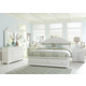 Liberty Furniture Summer House 4 Piece Panel with Storage Bedroom Set in Oyster White