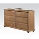 Acme Furniture Aria 6 Drawer Dresser in Natural Oak 22465