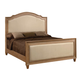 Acme Furniture Aria Eastern King Upholstered Panel Bed in Natural Oak 22457EK