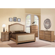 Acme Furniture Aria 4 Piece Upholstered Panel Bedroom Set in Natural Oak