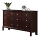 Acme Furniture Efraim 6 Drawer Dresser in Espresso 24305