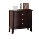 Acme Furniture Efraim 3 Drawer Nightstand in Espresso 24303