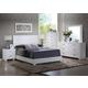 Acme Furniture Lorimar 4 Piece Panel Bedroom Set in White
