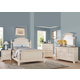 Acme Furniture Tahira 4 Piece Poster Bedroom Set in Ivory/ Cherry