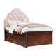 Acme Furniture Cecilie Youth Twin Panel with Storage Bed in Cherry/ Pink 30260T