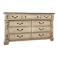 Fairfax Home Furnishings Alexandra Drawer Dresser in Creamy Bisque 5546-10