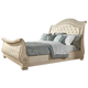 Fairfax Home Furnishings Alexandra Queen Sleigh Bed in Creamy Bisque