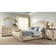 Fairfax Home Furnishings Alexandra Sleigh Bedroom Set in Creamy Bisque