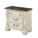 Fairfax Home Furnishings Alexandra 3-Drawer Nightstand in Creamy Bisque 5546-01