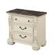 Fairfax Home Furnishings Alexandra 3-Drawer Nightstand in Creamy Bisque 5546-01