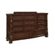 Fairfax Home Furnishings Verona Drawer Dresser in Warm Cherry 5870-10