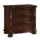 Fairfax Home Furnishings Verona 3-Drawer Nightstand in Warm Cherry 5870-01