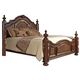 Oasis Home Verona Queen Poster Bed in Warm Cherry