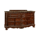 Fairfax Home Furnishings Patterson Drawer Dresser in Rich Pecan 6535-10