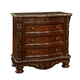 Fairfax Home Furnishings Patterson 3-Drawer Nightstand in Rich Pecan 6535-01