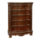 Fairfax Home Furnishings Patterson 5-Drawer Chest in Rich Pecan 6535-07