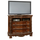 Fairfax Home Furnishings Patterson Entertainment Chest in Rich Pecan 6535-05