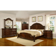 Fairfax Home Furnishings Patterson Poster Bedroom Set in Rich Pecan