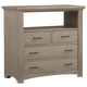 All-American Transitions Media Chest in Driftwood Oak