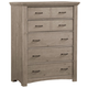 All-American Evolution 5 Drawer Chest in Driftwood Oak
