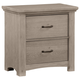 All-American Transitions 2 Drawer Night Stand in Driftwood Oak