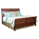 Kincaid Homecoming Cumberland  Queen Sleigh Bed in Vintage Cherry 38-150P