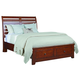 Kincaid Homecoming Cumberland Queen Sleigh Storage Bed in Vintage Cherry