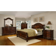 Fairfax Home Furnishings Patterson Sleigh Bedroom Set in Rich Pecan