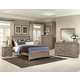All-American Transitions 4 Piece Panel Bedroom Set in Driftwood Oak