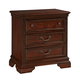 Fairfax Home Furnishings Waverly Place 3-Drawer Nightstand in Rich Cherry 9350-20