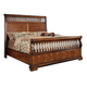 Fairfax Home Furnishings Waverly Place King Panel Bed in Rich Cherry