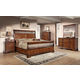 Fairfax Home Furnishings Waverly Place Panel Bedroom Set in Rich Cherry