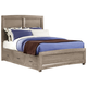 All-American Evolution King Panel Bed with 1 Side Storage in Driftwood Oak