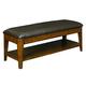 Broyhill Estes Park Upholstered Seat Storage Bench Artisan Oak 4364-295