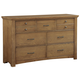 All-American Transitions 7 Drawer Dresser in Dark Oak