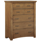 All-American Transitions 5 Drawer Chest in Dark Oak