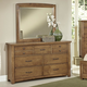 All-American Evolution Dresser with Mirror in Dark Oak