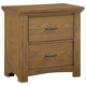 All-American Transitions 2 Drawer Night Stand in Dark Oak