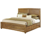 All-American Transitions Queen Panel Bed with 1 Side Storage in Dark Oak