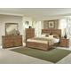 All-American Evolution 4 Piece Panel Bedroom Set in Dark Oak