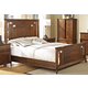 New Classic Clark's Crossing King Panel Bed in African Honey