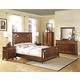 New Classic Clark's Crossing Panel Bedroom Set in African Honey