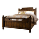 Broyhill Attic Heirlooms King Feather Bed in Rustic Oak 4399