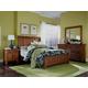 Broyhill Attic Heirlooms King Sleigh Bedroom Set in Rustic Oak