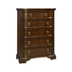Broyhill Elaina Five Drawer Chest in Rustic Cherry 4640-240