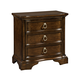 Broyhill Elaina Three Drawer Night Stand in Rustic Cherry 4640-293