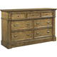Broyhill New Vintage 7 Drawer Dresser in Vintage Brown 4808-230
